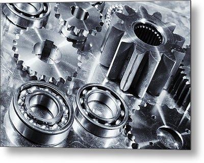 Titanium Aerospace Engineering Parts Metal Print by Christian Lagereek