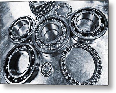 Titanium And Steel Ball-bearings Metal Print by Christian Lagereek