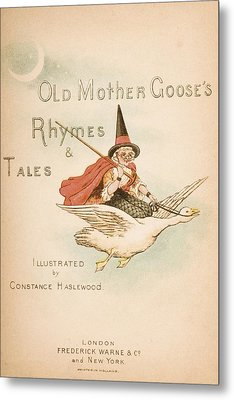 Title Page Illustration From Old Mother Metal Print by Vintage Design Pics