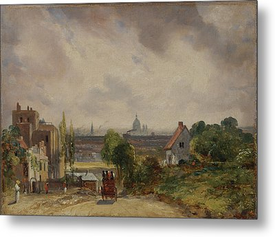 Title Sir Richard Steeles Cottage Hampstead Metal Print by John Constable