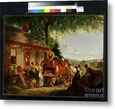 Title The Yankee Peddler Metal Print