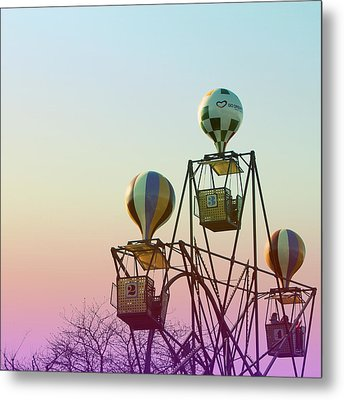 Tivoli Balloon Ride Metal Print by Linda Woods