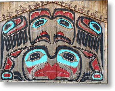 Tlingit Wall Panel Metal Print