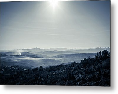 To A Peaceful Valley Metal Print by Andrea Mazzocchetti
