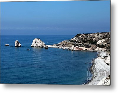 To Aphrodite's Rocks Metal Print by John Rizzuto