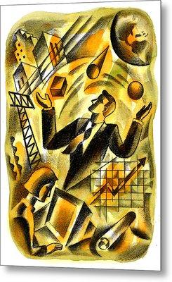 To Be A Businessman Metal Print by Leon Zernitsky