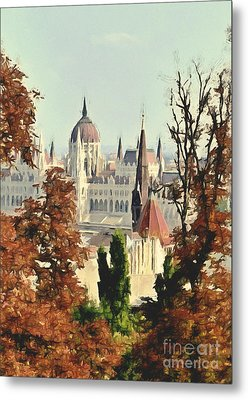 To Budapest With Love Metal Print