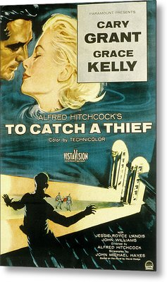 To Catch A Thief, Poster Art, Cary Metal Print by Everett