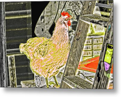 To Climb The Corporate Ladder . . . Metal Print by Gina O'Brien
