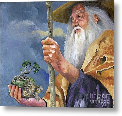 To Hold The World In The Palm Of Your Hand Metal Print by J W Baker
