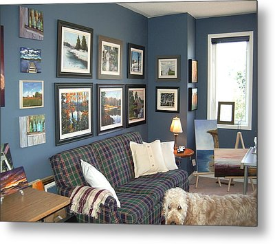 Metal Print featuring the painting To Our Arts Content 2 by Diane Daigle