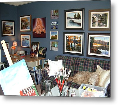 Metal Print featuring the painting To Our Arts Content by Diane Daigle