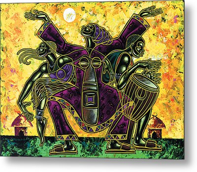 To The Beat Of The Drum Metal Print