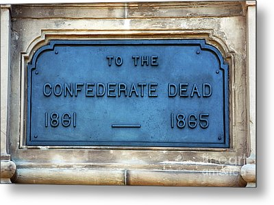 To The Confederate Dead Metal Print by John Rizzuto