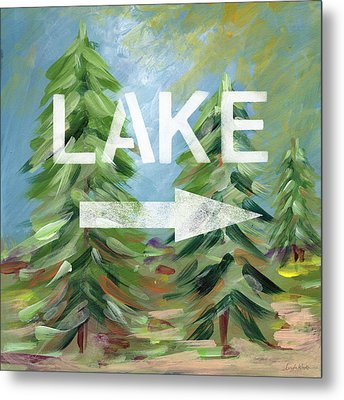 To The Lake - Art By Linda Woods Metal Print by Linda Woods