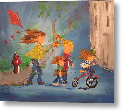 To The Park Metal Print by Terri Einer