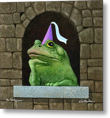 Toad Queen... Metal Print by Will Bullas