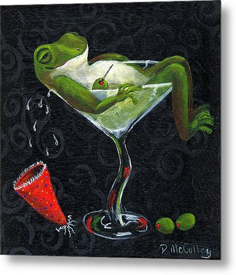 Toadally Under The Influence Metal Print by Debbie McCulley