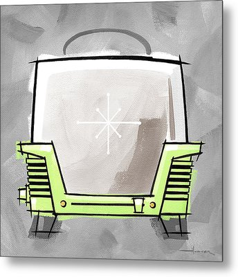 Toaster Lime Metal Print by Larry Hunter