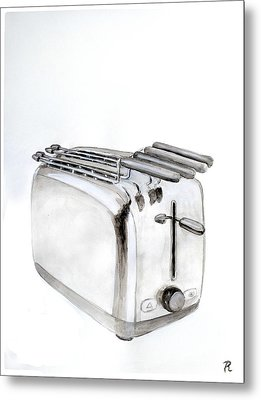 Toaster Metal Print by Renzo