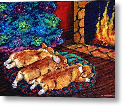 Toasty Toes Metal Print by Lyn Cook
