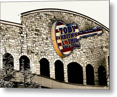 Toby Keiths Bar Metal Print by Karen M Scovill