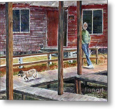 Together Again At The Old Fish Camp Metal Print by Janet Felts