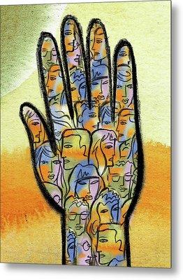 Togetherness Metal Print by Leon Zernitsky