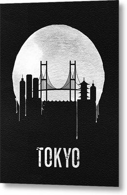 Tokyo Skyline Black Metal Print by Naxart Studio