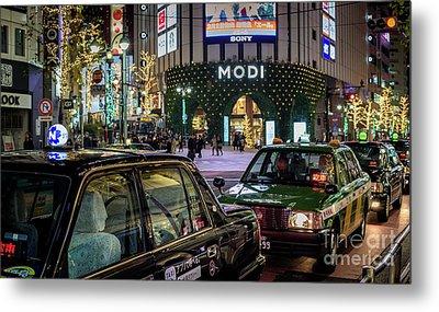 Tokyo Taxis, Japan Metal Print
