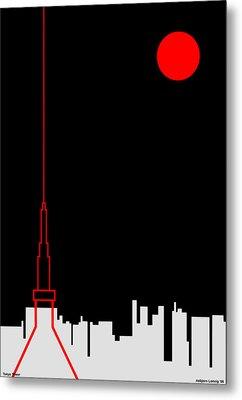 Tokyo Tower Metal Print by Asbjorn Lonvig
