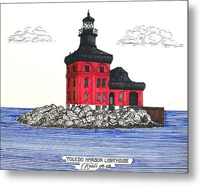 Toledo Harbor Lighthouse Metal Print by Frederic Kohli