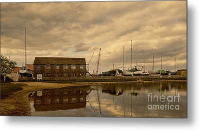 Tollesbury Harbour Boat Shed Metal Print