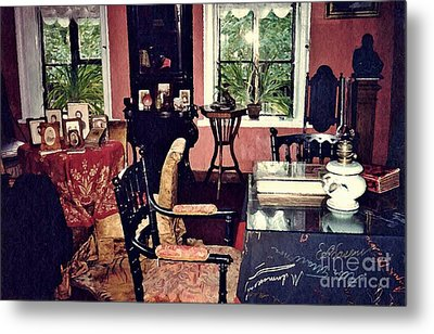 Tolstoy's Study In Moscow  Metal Print by Sarah Loft