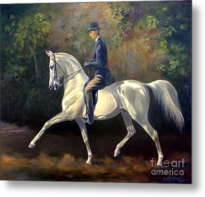 Tom Bass And Columbus Metal Print by Jeanne Newton Schoborg
