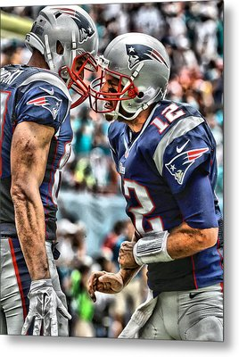 Tom Brady Art 4 Metal Print by Joe Hamilton