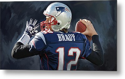 Metal Print featuring the painting Tom Brady Artwork by Sheraz A