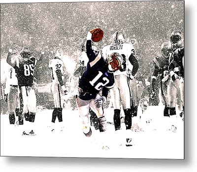 Tom Brady Touchdown Spike Metal Print by Brian Reaves
