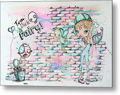 Tom Dick And Fairy Metal Print by Lizzy Love
