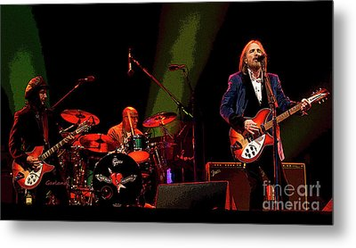 Tom Petty In Concert Metal Print by Garland Johnson