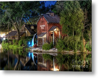 Tom Sawyers Harper's Mill Metal Print