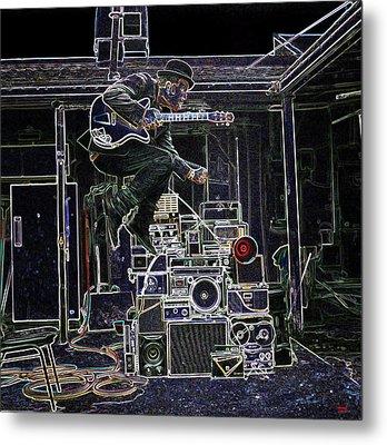 Tom Waits Jamming Metal Print
