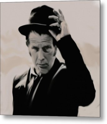Metal Print featuring the painting Tom Waits by Jeff DOttavio