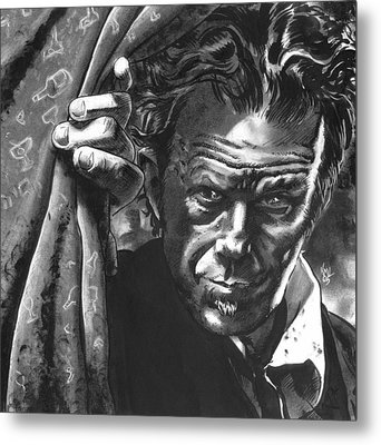 Tom Waits Metal Print by Ken Meyer