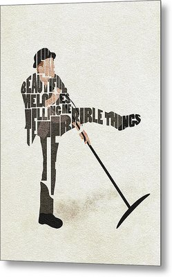 Metal Print featuring the digital art Tom Waits Typography Art by Inspirowl Design