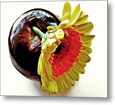 Tomato And Daisy Metal Print by Sarah Loft