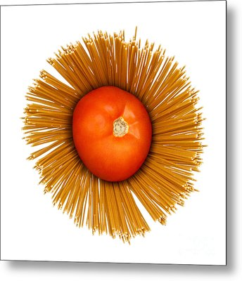 Tomato And Pasta Metal Print by Blink Images