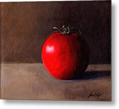 Tomato Still Life 1 Metal Print by Janet King