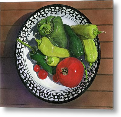 Tomatoes And Peppers  Metal Print