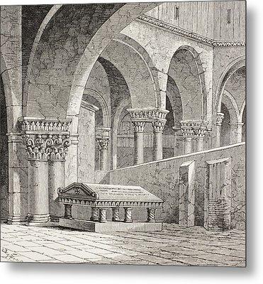 Tomb Of Godfrey De Boullon, C 1060 - Metal Print